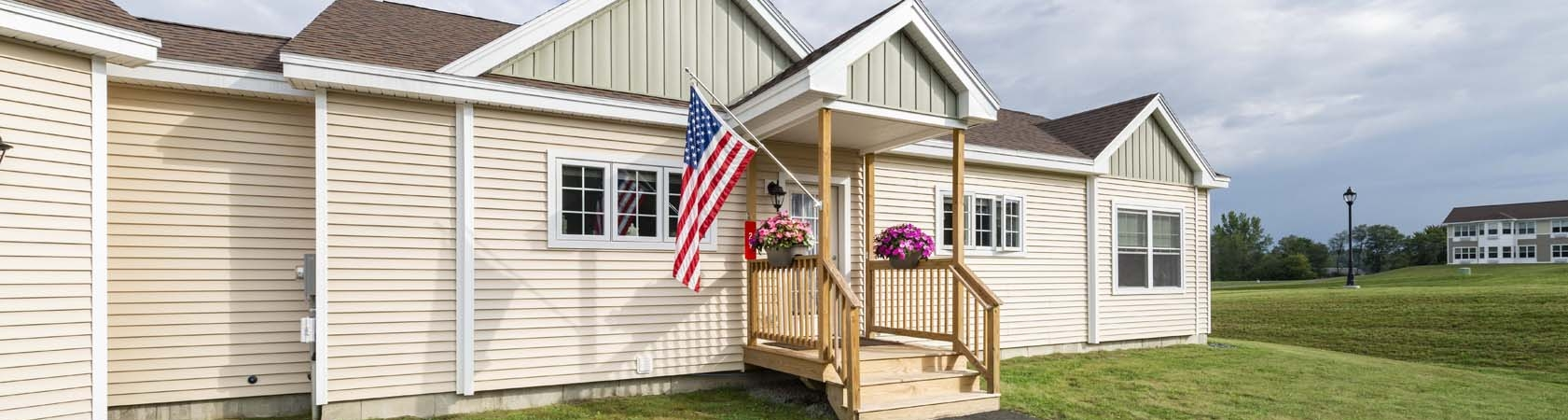 Exterior view of an independent living cottage